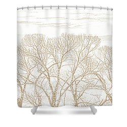 Shower Curtain featuring the photograph Trees Silhouette Brown by Jennie Marie Schell