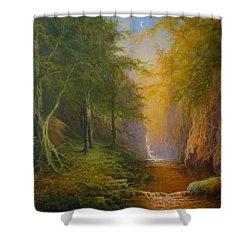 Fairytale Forest Tree Spirit Shower Curtain