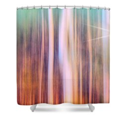 Shower Curtain featuring the photograph Tree Star Abstract by Clare VanderVeen