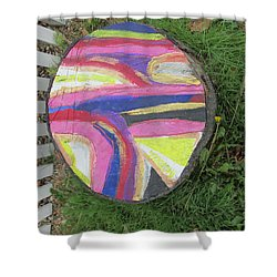 Tree Stump In Abstract - Bellingham - Lewisham Shower Curtain