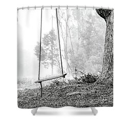Tree Swing Shower Curtain
