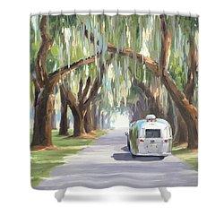 Tree Tunnel Shower Curtain
