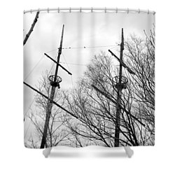 Shower Curtain featuring the photograph Tree Types by Valentino Visentini