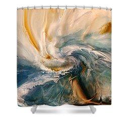 Shower Curtain featuring the digital art Tree Wind by Linda Sannuti