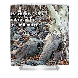 Tree With Quote Shower Curtain