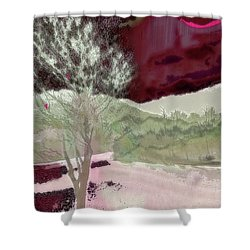Tree Witness To Lake At Dawn Shower Curtain