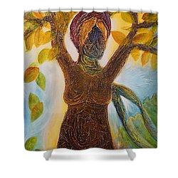 Tree Woman Shower Curtain