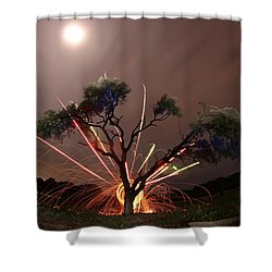 Treeburst Shower Curtain by Andrew Nourse