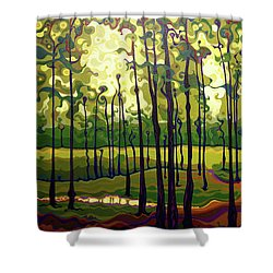 Treecentric Summer Glow Shower Curtain