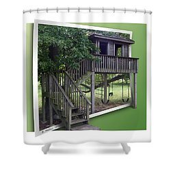 Treehouse Playground Shower Curtain by Brian Wallace