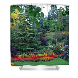 Trees And Flowers Shower Curtain by Betty Buller Whitehead