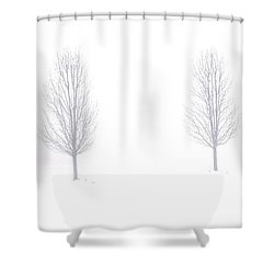 Shower Curtain featuring the photograph Trees And Snow by Daniel Thompson