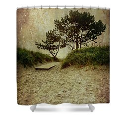 Trees By The Sea Shower Curtain