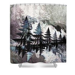 Trees Shower Curtain by Geraldine DeBoer