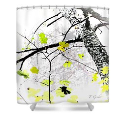 Trees Growing In Silo Abstract - Signature Edition Shower Curtain