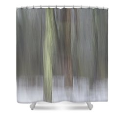 Trees In Fog II Shower Curtain
