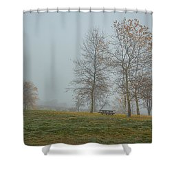 Trees In The Park Crop Shower Curtain