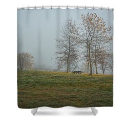 Trees In The Park Shower Curtain