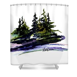 Trees Shower Curtain by Marti Green