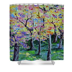 Trees On Hideaway Ct Shower Curtain