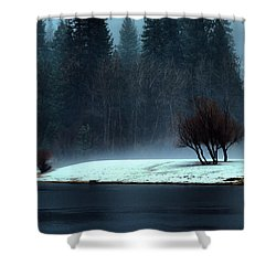 Trees On Point Shower Curtain