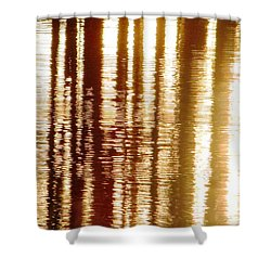 Trees On Rippled Water Shower Curtain