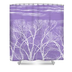 Shower Curtain featuring the photograph Trees Silhouette Purple by Jennie Marie Schell