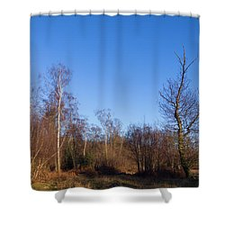 Trees With The Moon Shower Curtain