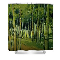 Treesong Summer Shower Curtain