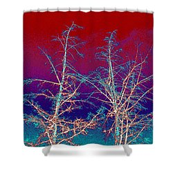 Treetops 4 Shower Curtain by Will Borden