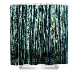 Treez Cyan Shower Curtain