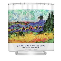 Trek 100 Poster Shower Curtain