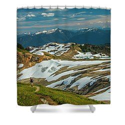 Trekking Ptarmigan Ridge Shower Curtain