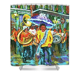Treme Brass Band Shower Curtain
