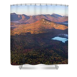 Tremont Autumn Morning Panorama Shower Curtain