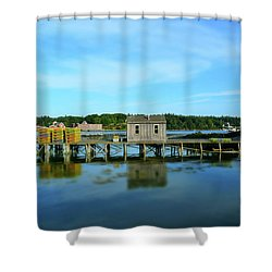 Tremont, Maine No. 23 Shower Curtain by Sandy Taylor
