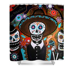 Tres Mariachis Shower Curtain