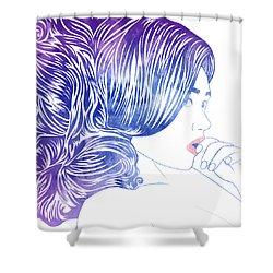 Tresses IIi Shower Curtain
