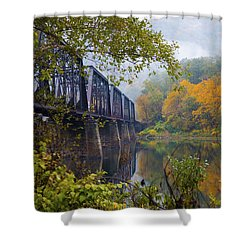 Trestle In Autumn Shower Curtain