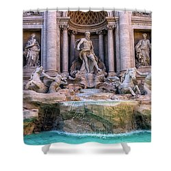 Trevi Fountain, Roma, Italy Shower Curtain
