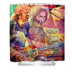 Trey Channeling Cosmic Jerry Shower Curtain by Joshua Morton