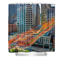Tri Mountain Sculpture 002 Shower Curtain