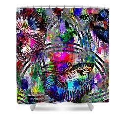 Triad Shower Curtain by Iowan Stone-Flowers