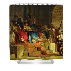 Trial Of The Apostle Paul Shower Curtain by Nikolai K Bodarevski