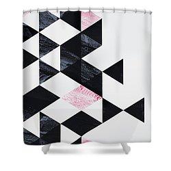 Triangle Geometry Shower Curtain