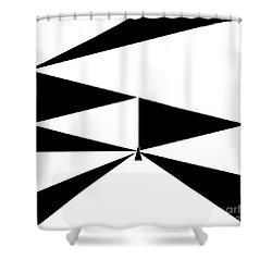 Triangles 2 Shower Curtain by Eloise Schneider