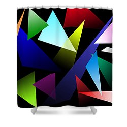 Triangles Shower Curtain