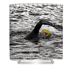 Triathlon Swimmer Shower Curtain