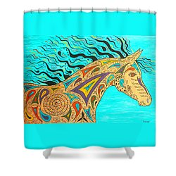 Tribal Carnival Spirit Horse Shower Curtain