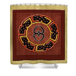 Shower Curtain featuring the painting Tribal Celt Asase Ye Duru Mother Earth Symbol by Kandy Hurley